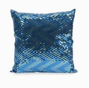 Imax, Estradin Blue Sequin Chevron Pillow (89943)