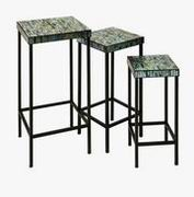 Imax, Aramis Mosaic Glass Tables - Set of 3 (96104-3)