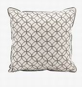 Imax, Essentials Taupe Embroidered Pillow (97244)