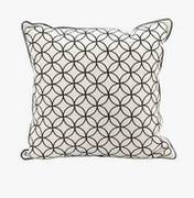 Imax, Essentials Black Embroidered Pillow (97245)