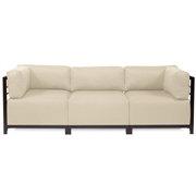 Howard Elliott Sterling Sand Axis 3pc Sectional - Mahogany Frame