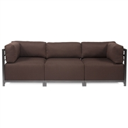 Howard Elliott Sterling Chocolate Axis 3pc Sectional - Titanium Frame