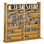 Leslie Dame Vinyl Veneer High Capacity Wall Rack [CD-1000]