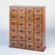 Leslie Dame Library Card File Multimedia Cabinet [CD-456]