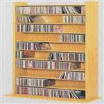 Leslie Dame Vinyl Veneer High Capacity Wall Rack [CD-500]