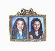 Modern Day Accents Antique Brass Double Photo Frame [3019]