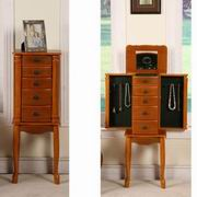 Nathan Direct Bombay Classic 4 Drawer Jewelry Armoire [J1001ARM-S-OAK]