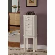 Nathan Direct Winnipeg White 5 Drawer Jewelry Armoire