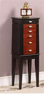Nathan Direct Sumba Yin Yang 5 Drawer Jewelry Armoire