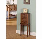 Nathan Direct Promo 4 Drawer Jewelry Armoire [J1015ARM-XS-BR]