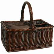 Picnic Beyond Willow Cooler Wine Basket Willow Cooler Basket [PB2A-1137A]