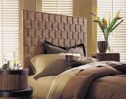 Padma's Plantation Rattan Weave Headboard - Queen