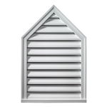 Fypon PEAKED LOUVER, Pitch Decorative Brick Mould Style PLV18X24-8