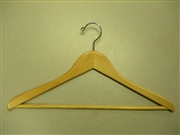 Proman Poducts, Suit Hanger with Wooden Bar Natural Lacquer [GMA8808]