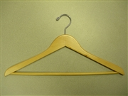 Proman Poducts, Coat Hanger with Wooden Bar Natural Lacquer [GNA8802]