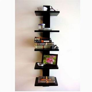 Proman Poducts, Spine Wall Book Shelves Black [WM16565]