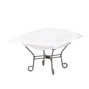 Howard Elliott Starboard Natural Scroll Puff Ottoman - Titanium Frame