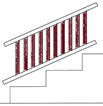 "Series-100,-Afco-Aluminum-[42""-Baluster-Kit]-for-Fixed-Angle-Stair-Rail-S100[42""Baluster Kit] for Fxd-stair Rail"