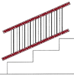 Series-100,-Afco-Aluminum-[Rails-Only]-for-Adjustable-Stair-Rail-S100[Rails Only] for ADJ-stair Rail