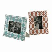 Sterling Set Of 2 Chevron Print Picture Frames
