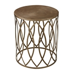 Sterling Sutton-Accent Table In Gold Leaf