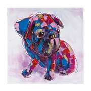 Sterling BOLD  PUPPY I - OVERSIZED OIL ON CANVAS