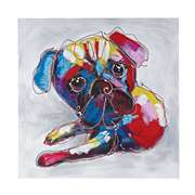 Sterling BOLD  PUPPY II - OVERSIZED OIL ON CANVAS