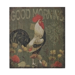 Sterling Good Morning Cockrel-Good Morning Cockrel Hand Paint On Wood