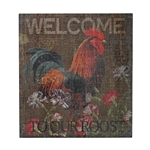 Sterling Welcome Cockrel-Welcome To Our Roost Hand Paint On Wood