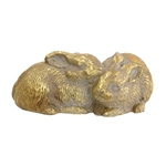 Sterling Sterling Twin Bunnies Decorative Statue