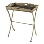 Sterling Tray Table With Antique Union Jack Print