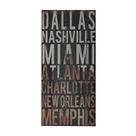 Sterling American Cities 3-American Cities Wall Décor Iii