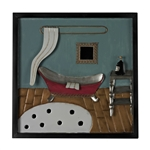 Sterling Bathroom Scene-Bathroom Scene Metal Wall Décor