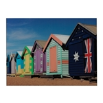 Sterling Beach Hut-Beach Hut Image Printed On Glass