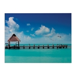 Sterling Maldives-Maldives Scene Printed On Glass