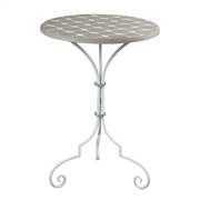 Sterling Ayer-Side Table In Grey / White Painted Finish