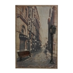 Sterling Paris Street-Paris Street Scence Printed On Metal With Metal 3D Accents