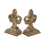 Sterling Pair Imperial Iris Bookends