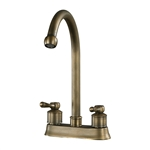 "Sterling 9.5"" 2 Handle Centre Set Antique Brass Faucet"