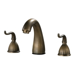 "Sterling 5.75"" 2 Handle Antique Brass Faucet, Separate Taps"