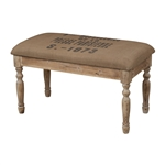 "Sterling ""Presse Parisienne"" Linen Covered Bench"