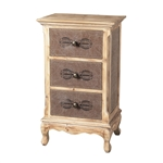 Sterling Linen Covered Chest Of Drawers