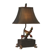 Sterling Bird On Berry Branch Mini Lamp