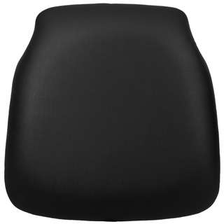 Hard Black Vinyl Chiavari Chair Cushion for Wood Chiavari Chairs [SZ-BLACK-HD-GG]