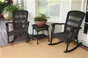 Plantation Rocking Chair Set - Southwest Amber, Dark Roast, Coastal White