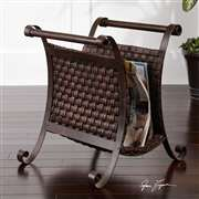 Uttermost  Brunella Dark Mocha Magazine Holder