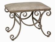 Uttermost  Leontina Metal Frame Small Bench