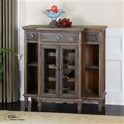 Uttermost  Suzette Wood Wine Cabinet