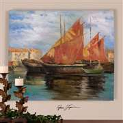 Uttermost  Bright Sailing Hand Painted Art