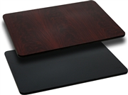 24'' x 30'' Rectangular Table Top with Black or Mahogany Reversible Laminate Top [XU-MBT-2430-GG]